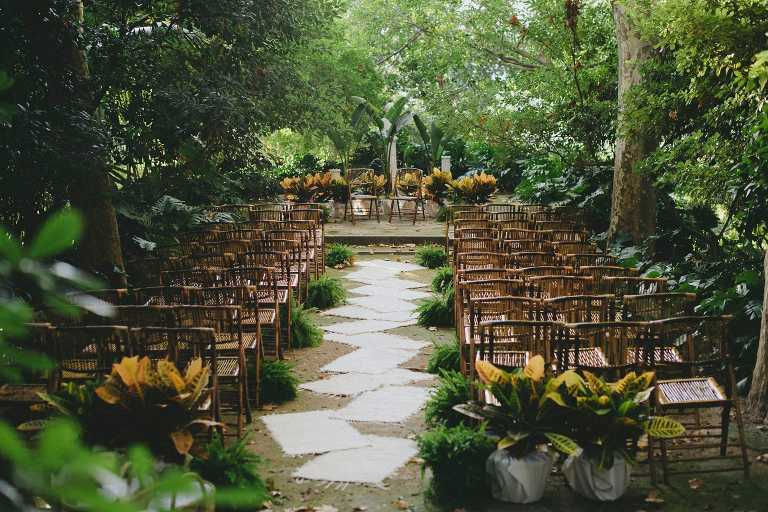 Wedding at a botanical garden in m laga vicky jaime for Bodas jardin botanico malaga