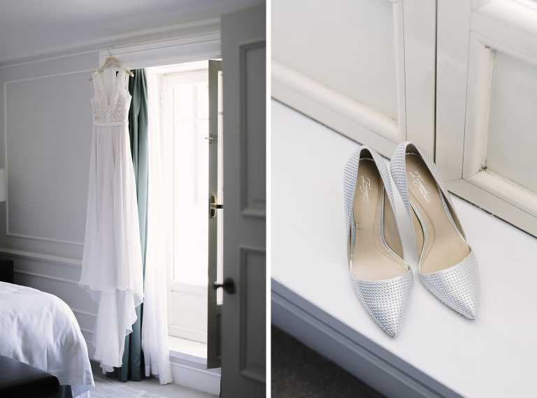 Wedding shoes designed by Vince Camuto